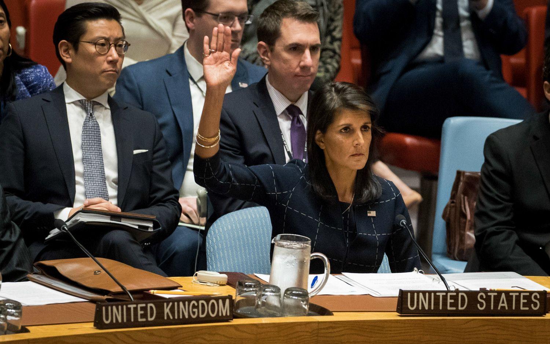 11日、ニューヨークで開かれた国連安全保障理事会で、北朝鮮制裁決議案を採択。©getty