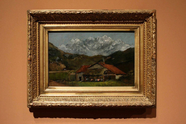 クールベ《山の小屋》1874年