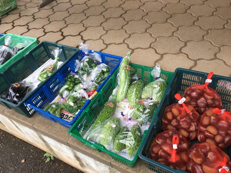 近隣で採れた野菜も激安で販売されている