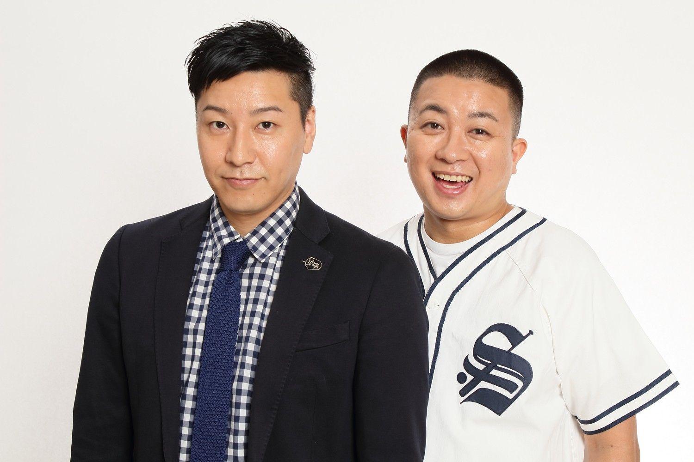 チョコレートプラネットの長田庄平(左)と松尾駿(右)