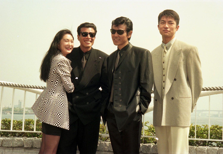 映画「あぶない刑事」制作発表 左から浅野温子、舘ひろし、柴田恭兵、仲村トオル