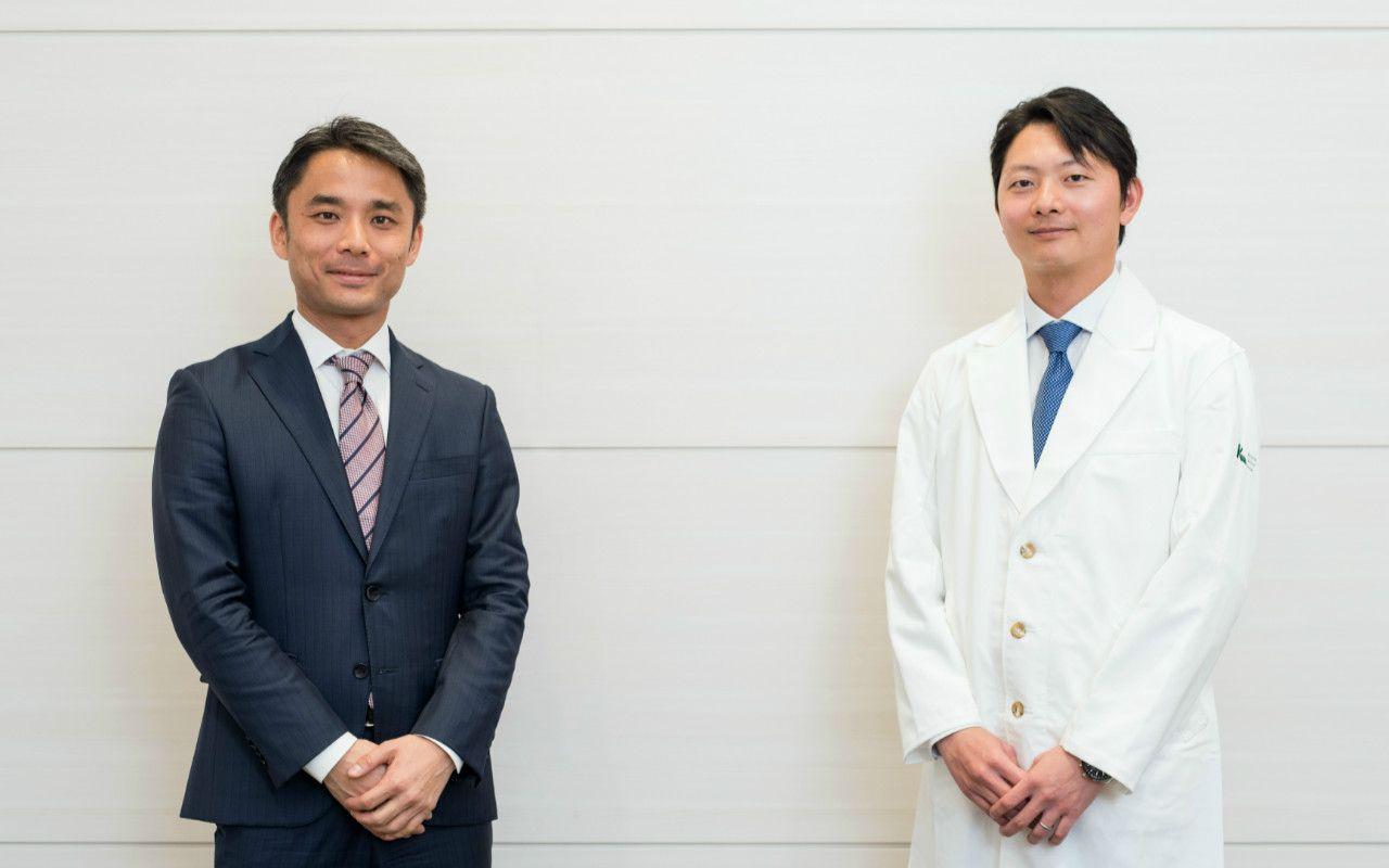 (左)岩瀬大輔さん、(右)亀田俊明さん