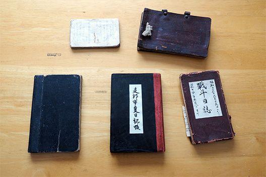 小野賢二さんが集めた兵士の日記の一部
