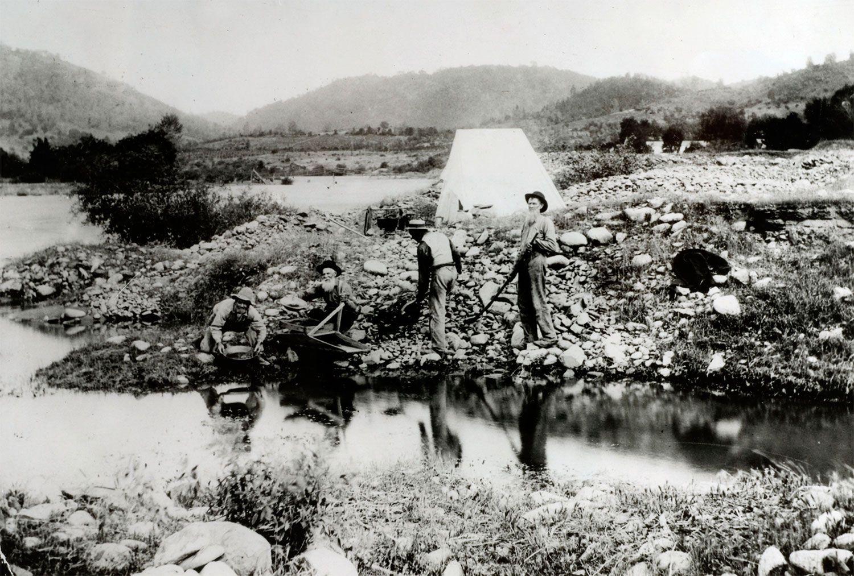 「49年組(フォーティーナイナーズ)」と呼ばれた採掘者たち ©getty