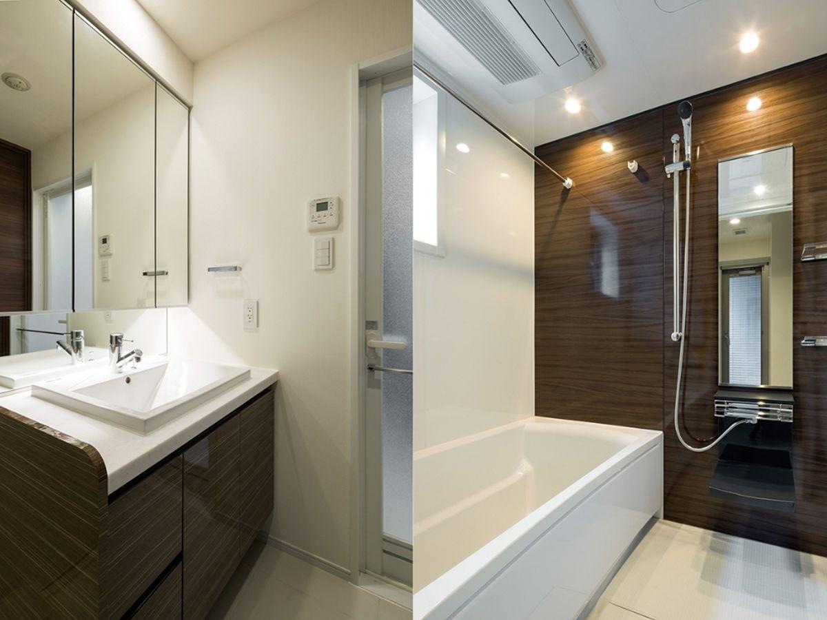 浴室や洗面台などの水周りもこのクオリティ(画像は「五反田CROSSIA」)。