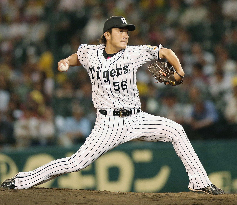 飯田優也とのトレードでソフトバンクに移籍した松田遼馬 ©時事通信社