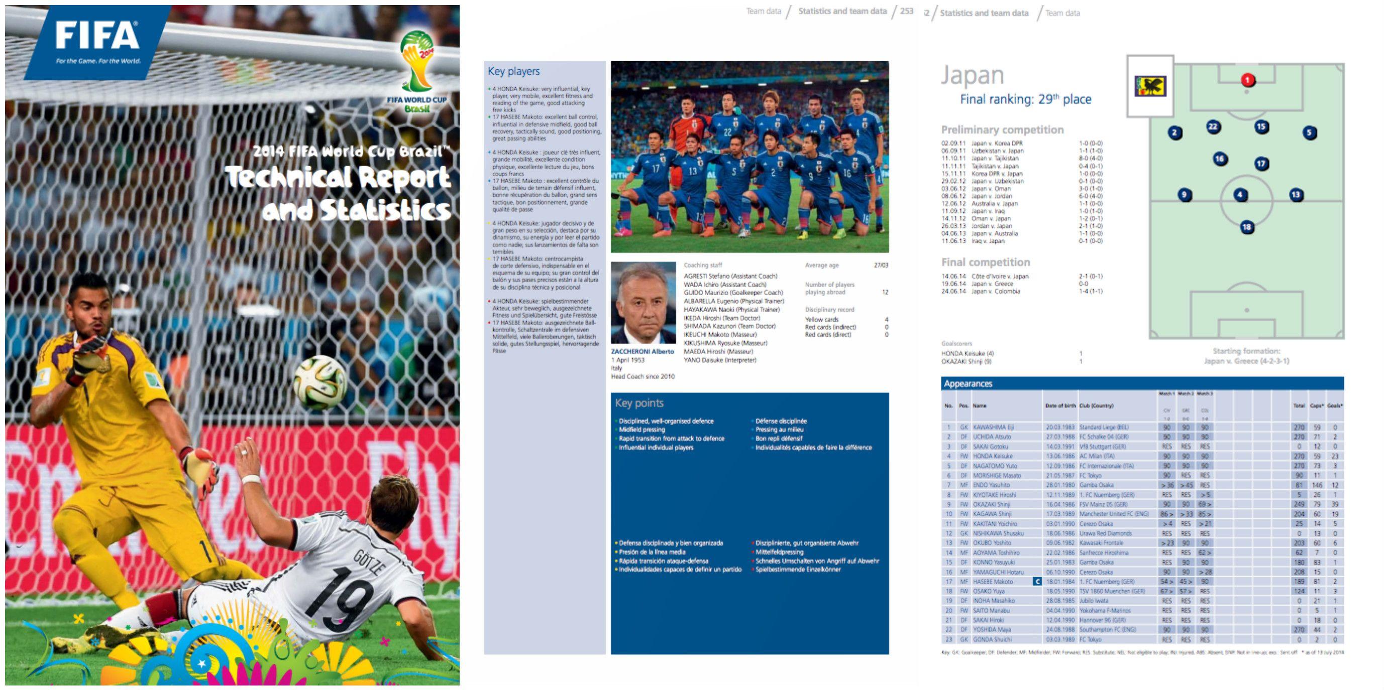 2014年ブラジルワールドカップのTSGレポート