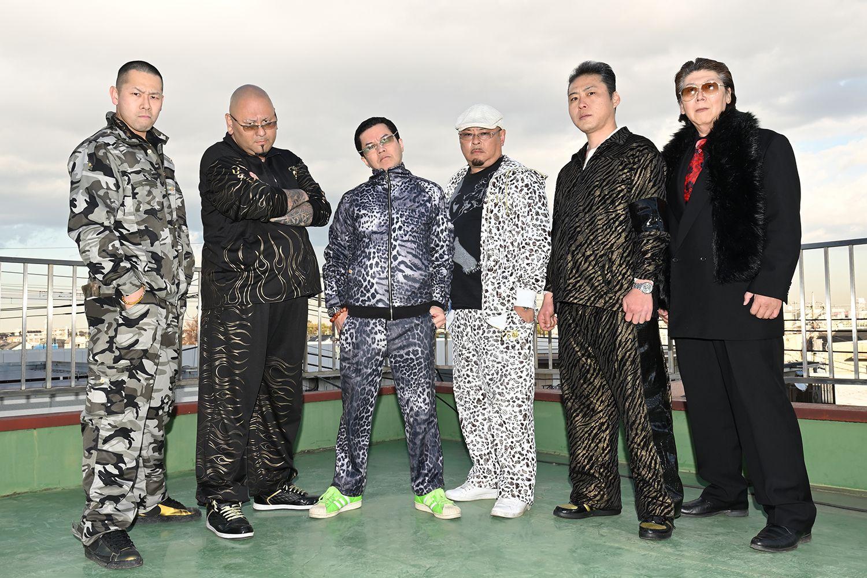 左から武蔵武さん、或布理萬さん、倉本宙雨組長、吉田丸さん、高倉亭どん兵衛さん、ムサ子さん