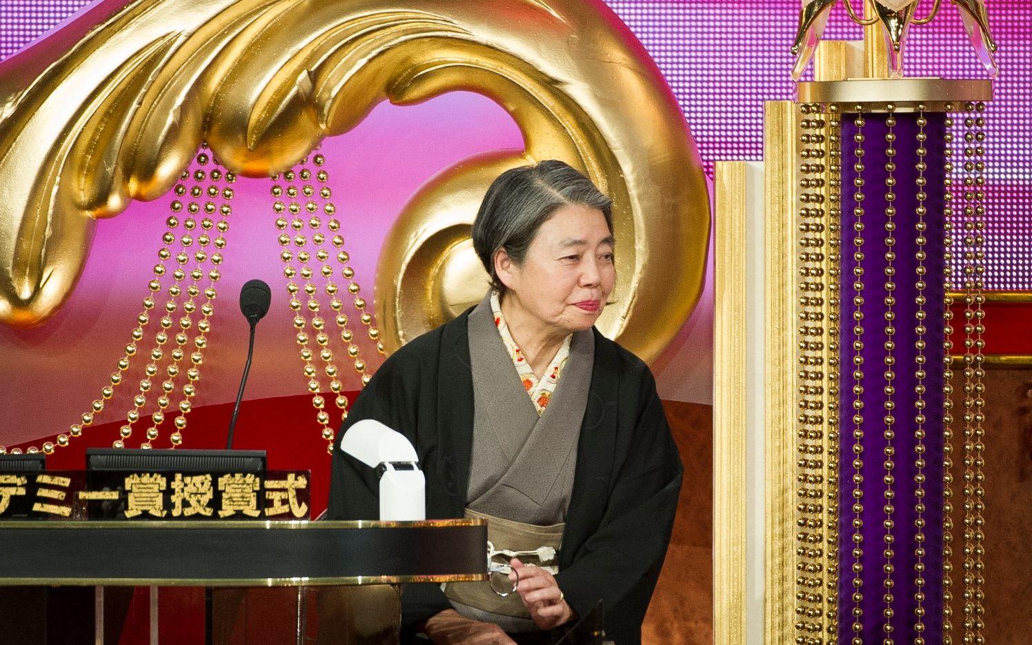 2013年、日本アカデミー賞でがんを告白 ©文藝春秋