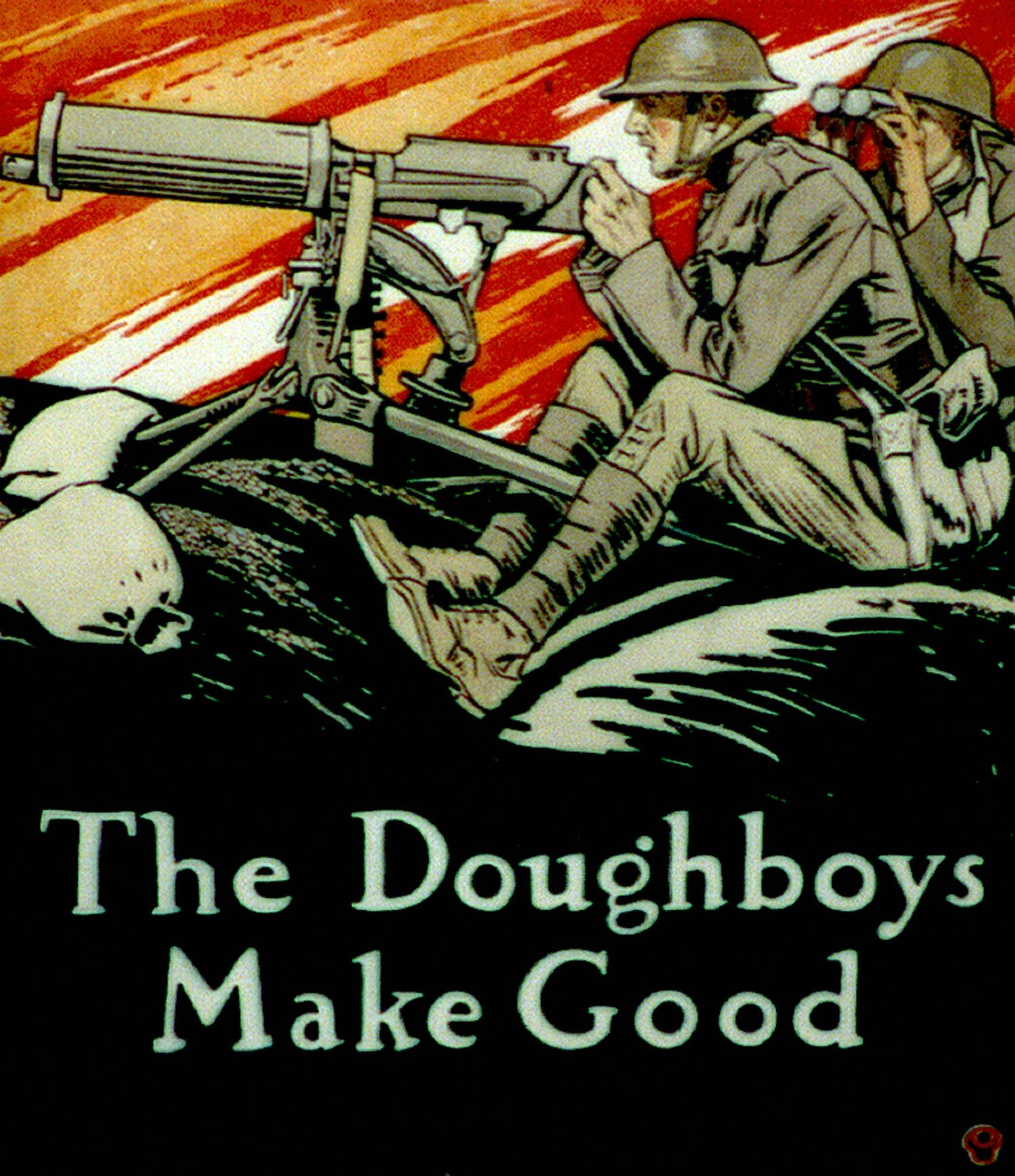 第1次世界大戦時のアメリカ兵を描いたポスター ©getty