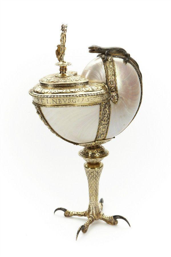 《貝の杯》 1577年、貝殻、銀、スコークロステル城、スウェーデン Skokloster Castle, Sweden
